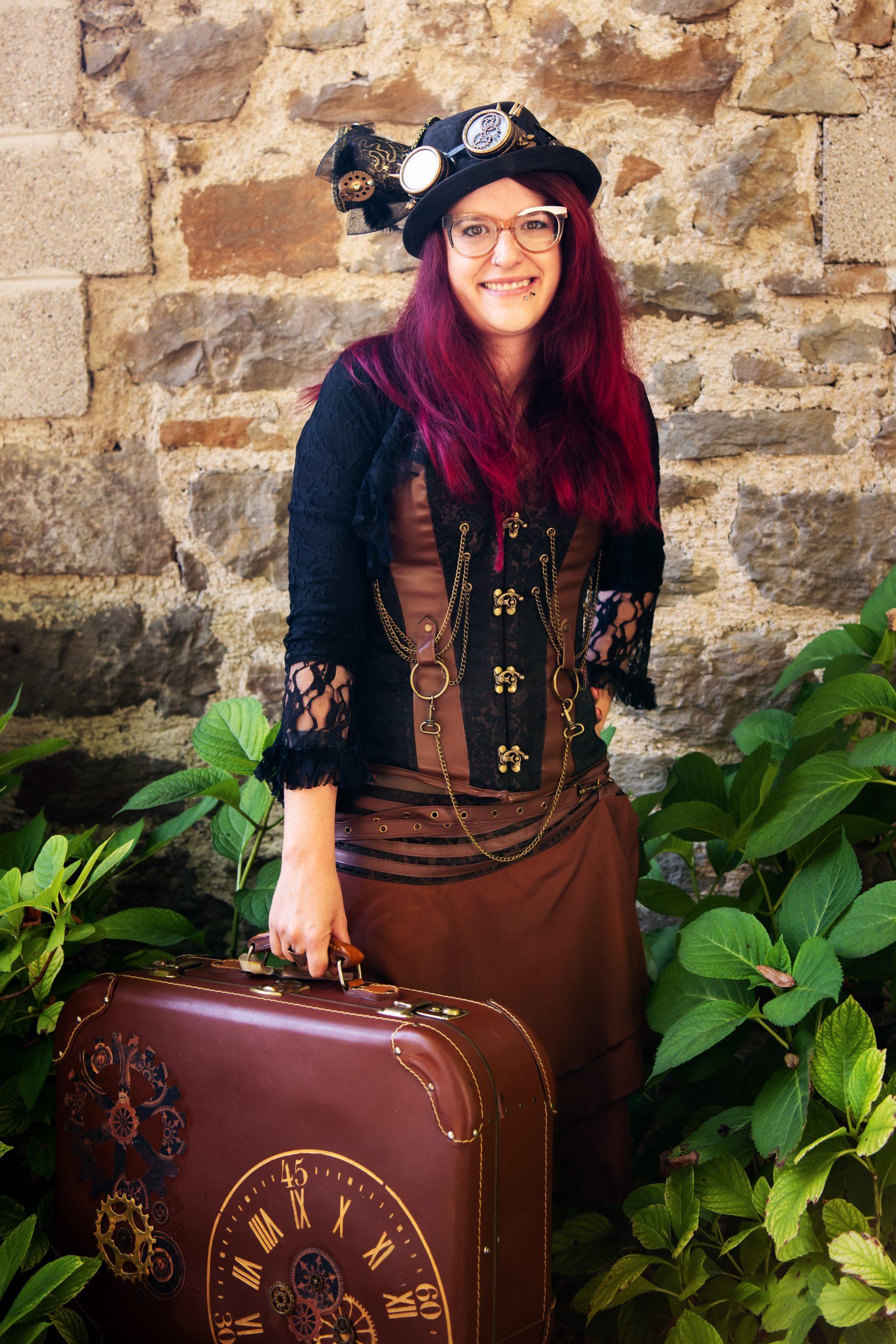Zauberin mit Koffer